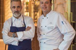 Şef Sergi Arola ve Arola Restaurant'ın mutfak şefi Omar Mosquera Mallen